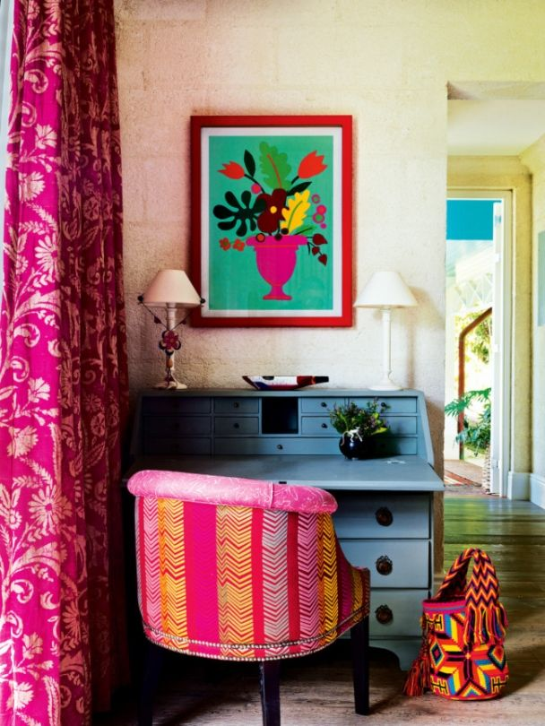 House Tour Inside Designer Kit Kemps Vividly Coloured Barbados Home