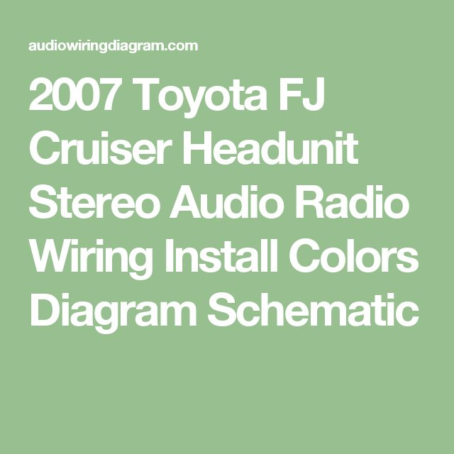 06c6508706819127d77a3e7be69cca07 toyota fj cruiser radios best 25 2007 toyota fj cruiser ideas on pinterest fj cruiser 2007 fj cruiser radio wiring diagram at soozxer.org