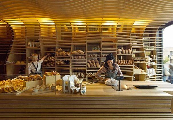 Wonderful curving wood Baker D. Chirico, Melbourne, Australia