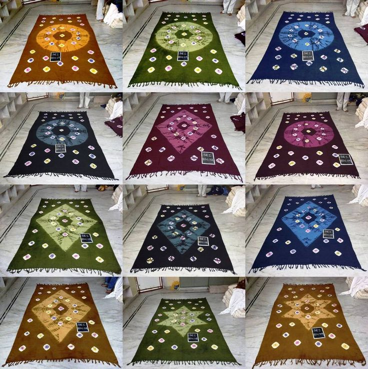 Tie dye hand loom khadi bed sheets
