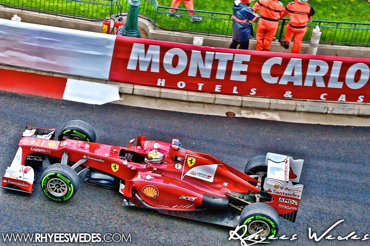Fernando Alonso In Monaco During the 2012 Formula One Monaco GP