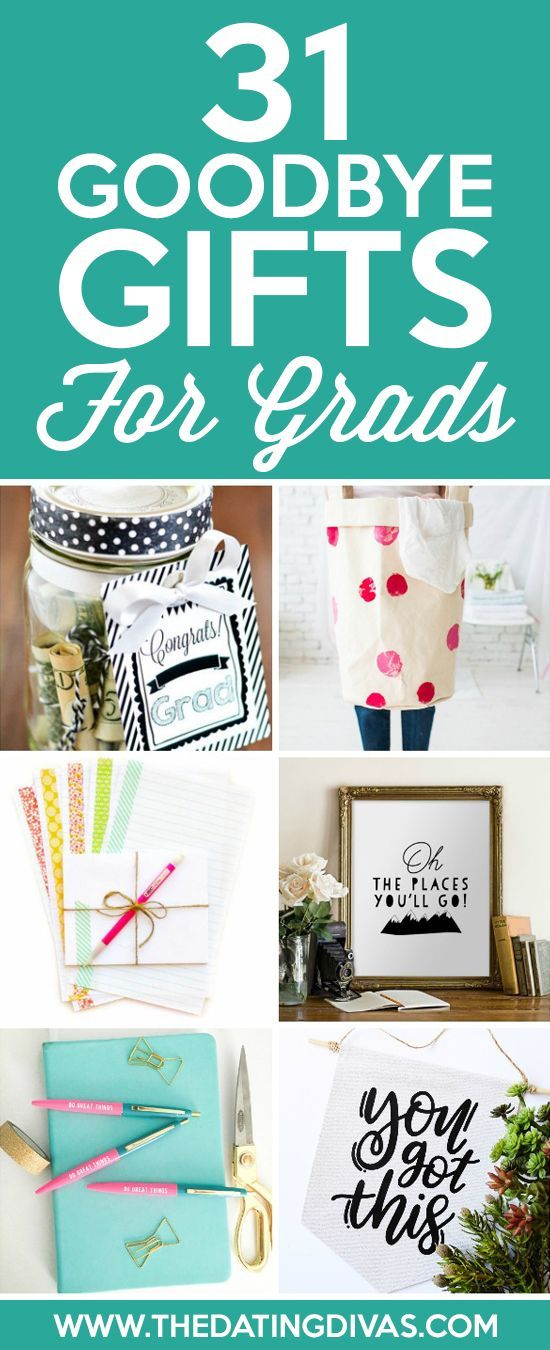 Goodbye Gifts for Grads- cute and easy grad gift ideas
