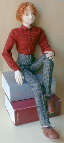 cloth-jointed boy doll pattern, 13 part tutorial