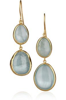 Pippa Small earrings: Gold Aquamarines, Aqua Earrings, Aquamarines Earrings, Earrings 2 440, Small Earrings, Pippa Small, Accessories, Small 18 Karate Gold, Fine Jewelry