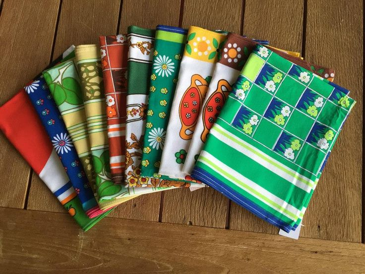 Awesome retro/vintage tea towels- cost just $1 each from the op shop