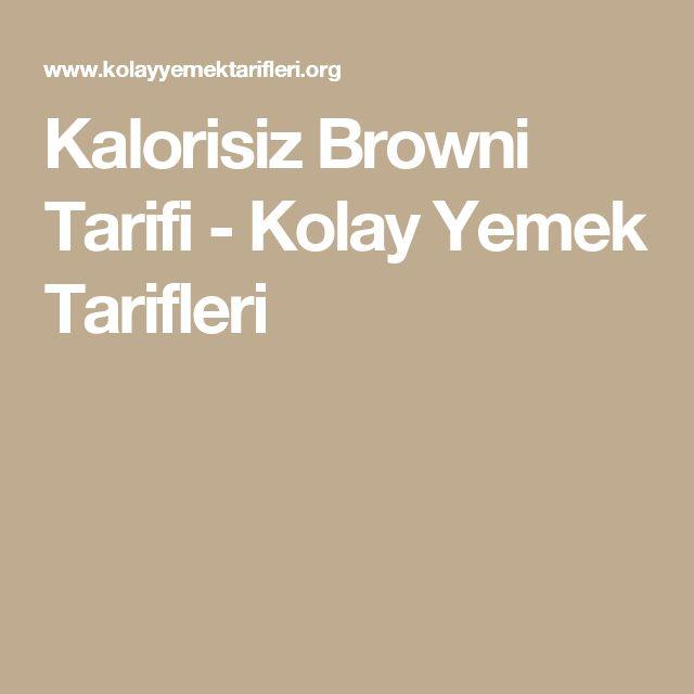 Kalorisiz Browni Tarifi - Kolay Yemek Tarifleri