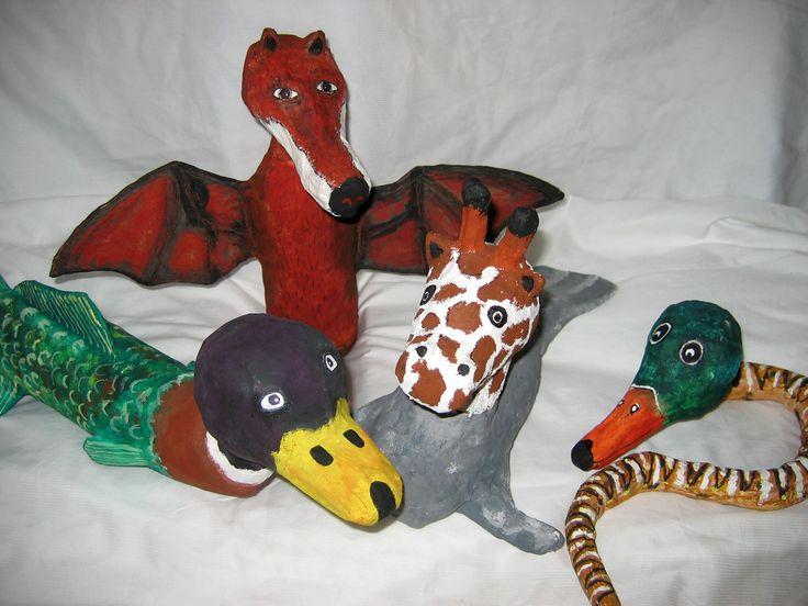 paper mache, kašírování, popletená zvířata