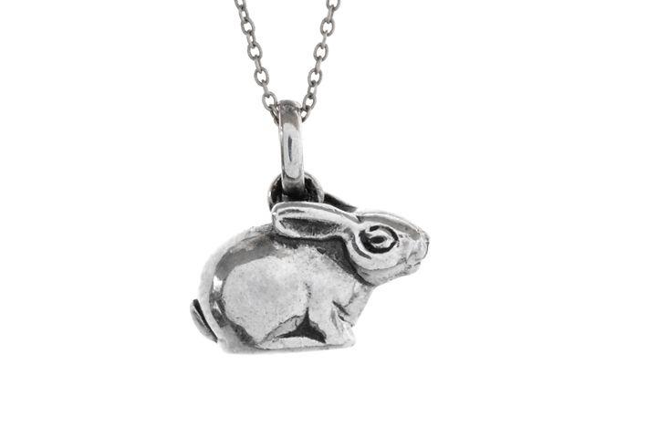 Silver Riverine Rabbit Pendant