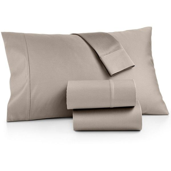 Aq Textiles Bergen Certified Egyptian Cotton 1000-Thread Count 4-Pc. ($360) ❤ liked on Polyvore featuring home, bed & bath, bedding, bed sheets, taupe, queen bed sheet set, 1000 thread count sheet set, egyptian cotton bedding, queen bed linens and queen bedding