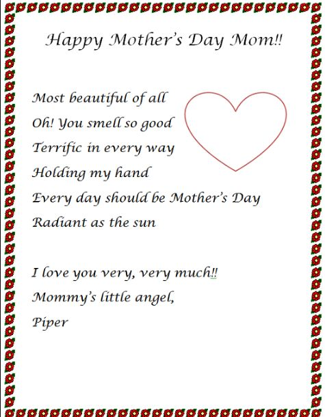 Essays about mother