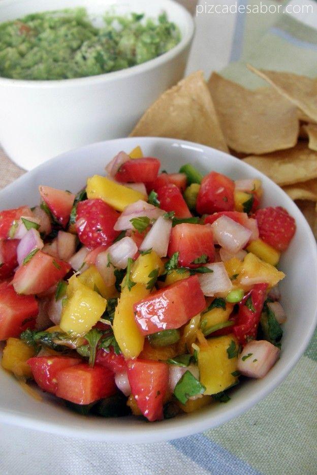 Salsa de fresa y mango – www.pizcadesabor.com