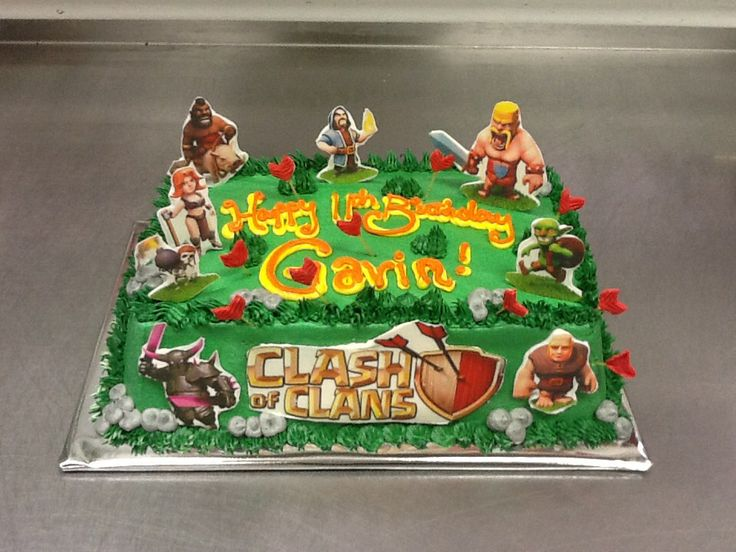 I may want this clash of clans cake to be for my clash of clans birthday