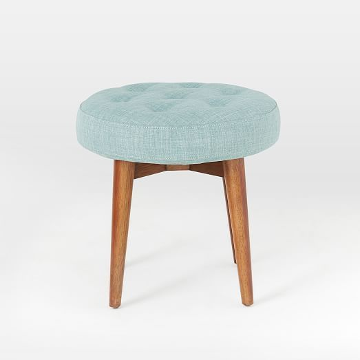 Mid-Century Upholstered Stool | west elm
