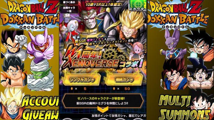 DBZ Dokkan Battle 200+ DragonStones DBZ Xenoverse Summons And More Accou...