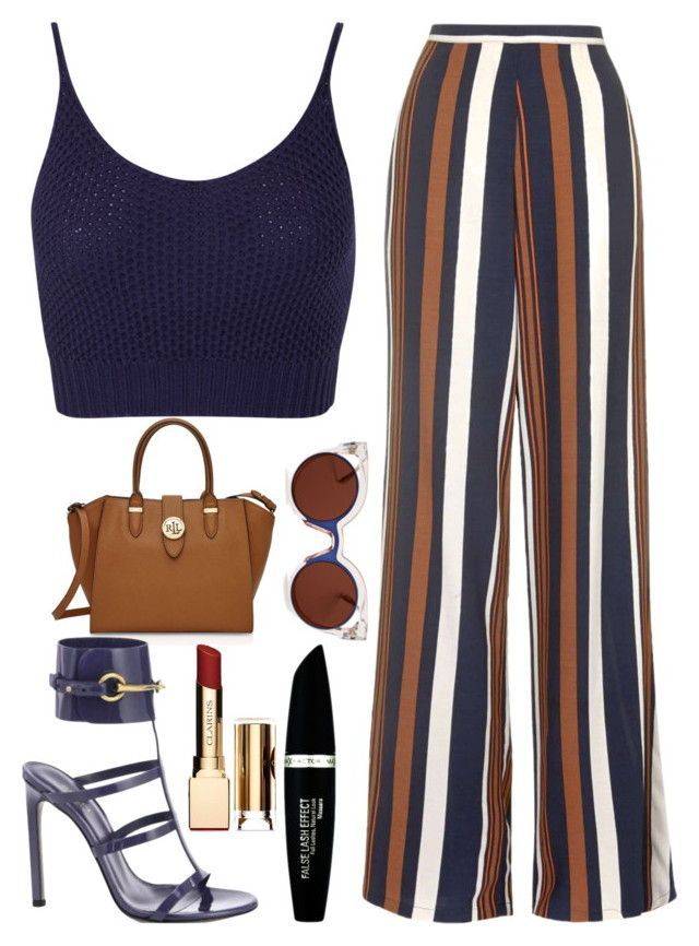 """""""Sun's Out"""" by kimeechanga on Polyvore featuring Topshop, Miss Selfridge, Ralph Lauren, Gucci, Clarins, Max Factor and Fendi"""