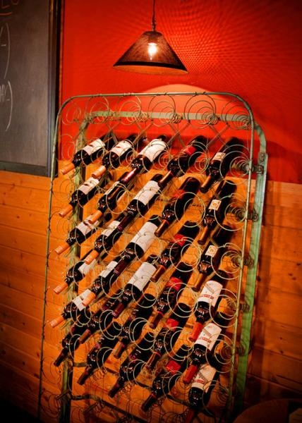 mattress springs wine storage - paint it black and you're in business (in my opinion)