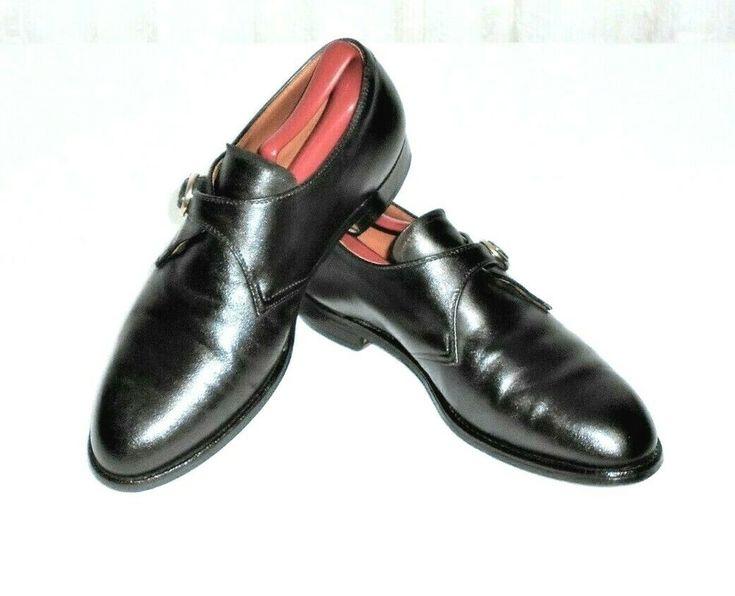 Alden New England Men's 8.5 C/E Brown Leather Monk Strap Loafer Made in USA #AllenEdmonds #MonkStrapLoafer in 2020 | Monk strap. Dress shoes men ...