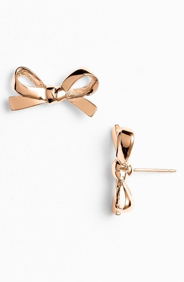 'skinny mini' bow stud earrings