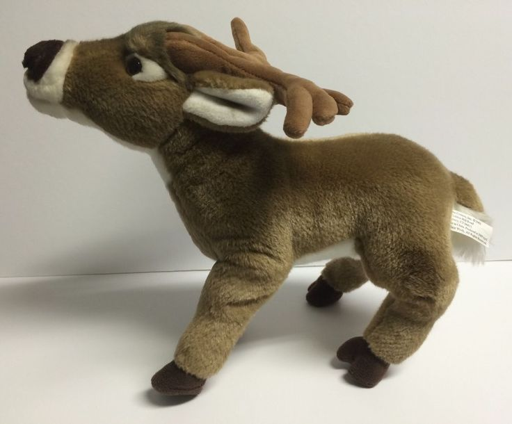 """Cabin Critters Plush Deer 14"""" Brown White Antlers 2009 #CabinCritters"""