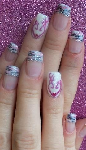Browning Heart Wedding Nails