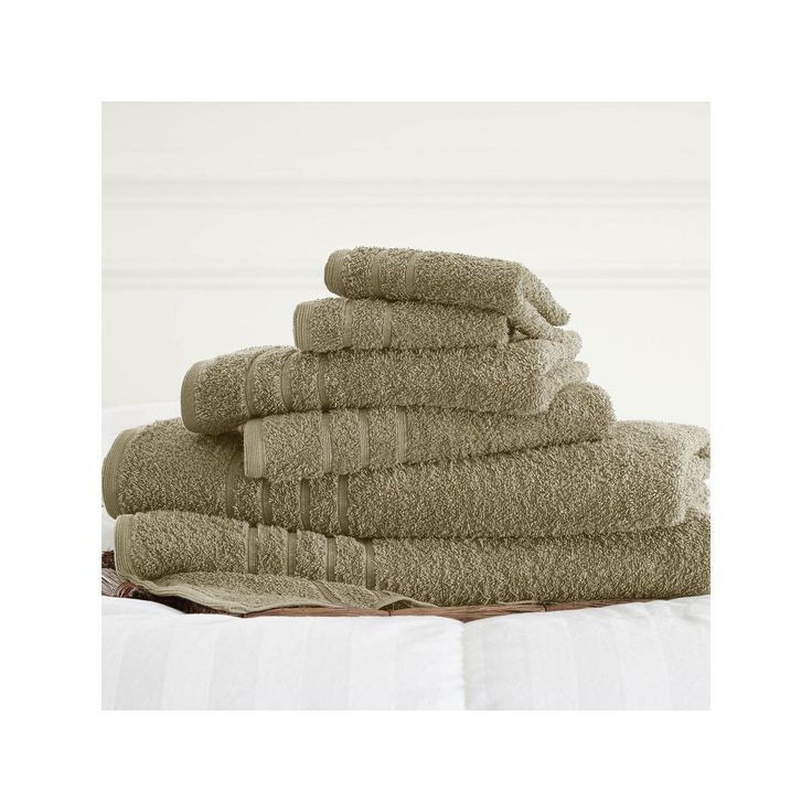 Spa Collection 6-pc. Solid Bath Towel Set, Beige Oth