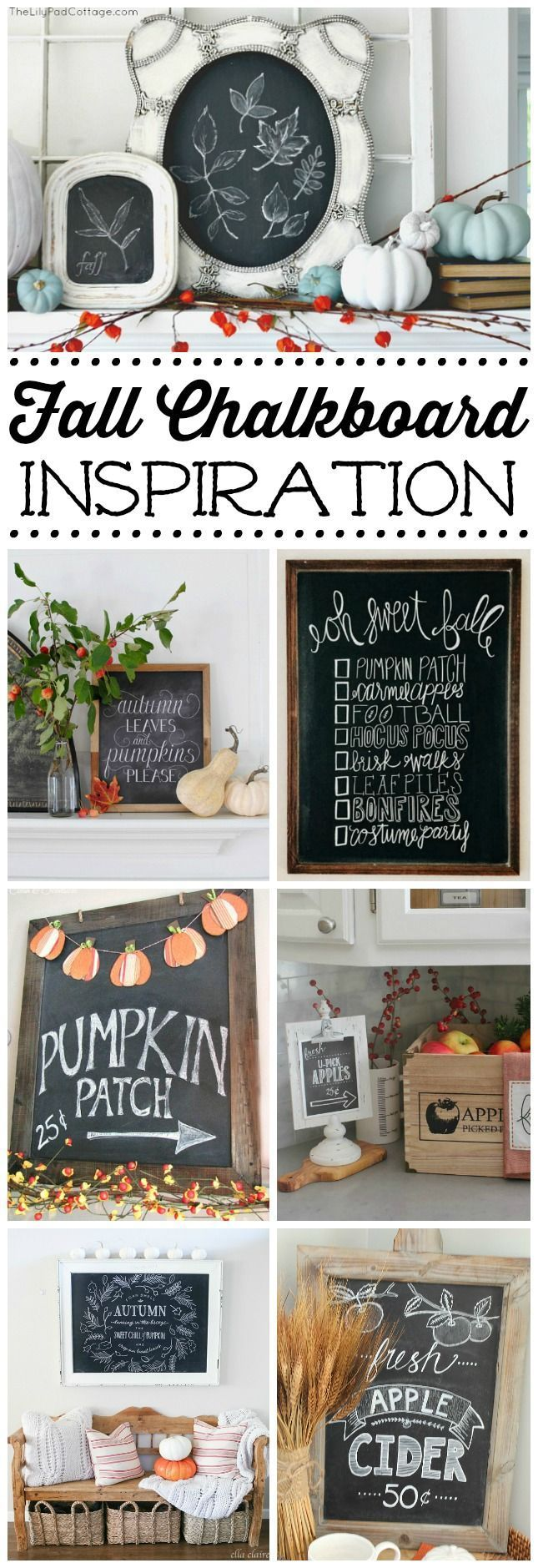 Check out these beautiful fall chalkboard designs and get inspired to create your own chalkboard art. Simple tips and techniques to help get you started!