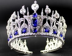 Queen Maxima wore this sumptuous diamond and sapphire tiara for the inauguration ceremony of her husband Willem-Alexander as King of the Netherlands.