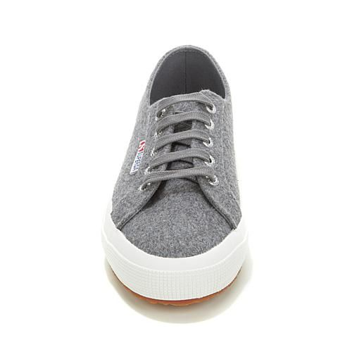 Superga® Wool-Blend Lace-Up Classic Sneaker - Pearl Gray