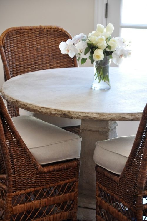 wicker kitchen dinette sets white chairs wooden table