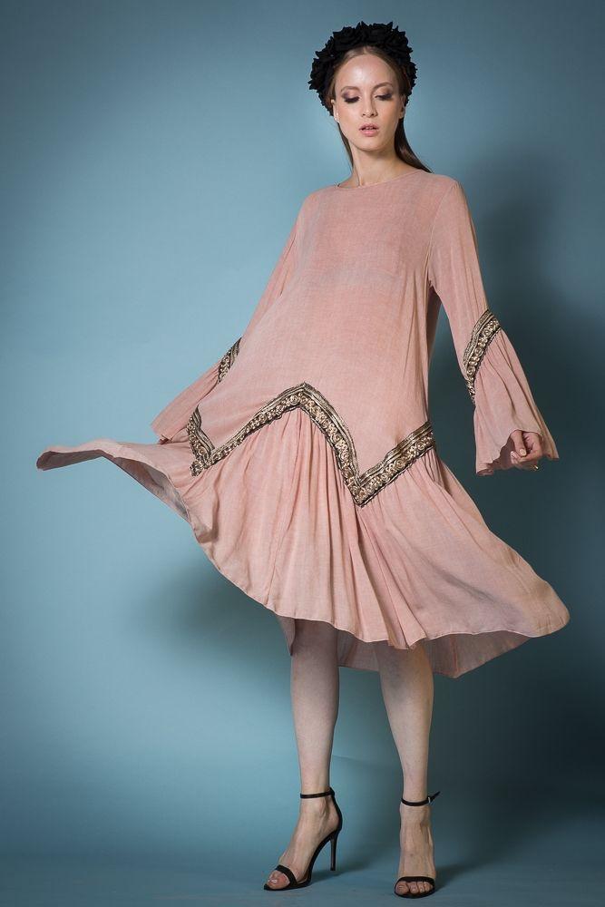 Melanie Dusty pink dress - Dresses - NIDODILEDA