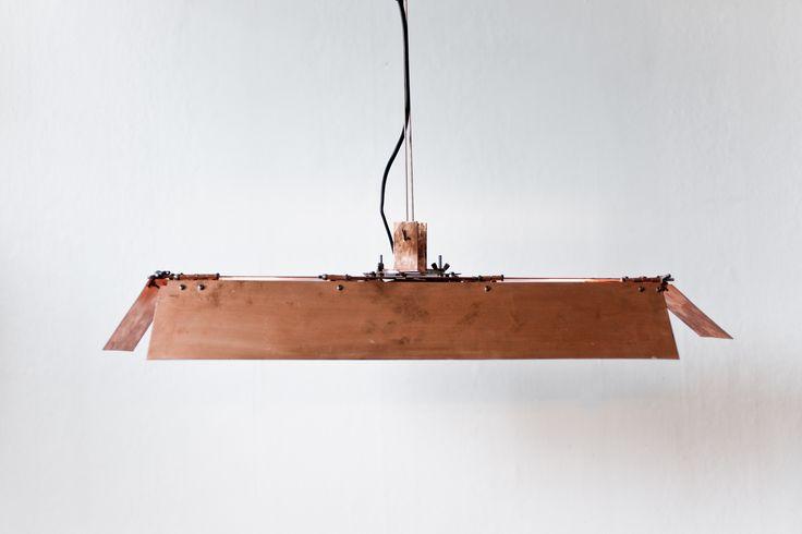 Copper barndoor lamp by Filip Forsberg