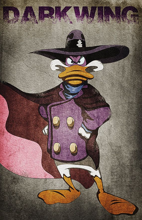Darkwing Duck... Character from the 90s Disney by AllThatGeek, $20.00
