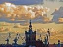Kosciol Św.Katarzyny jeszcze przed pożarem. Gdansk.