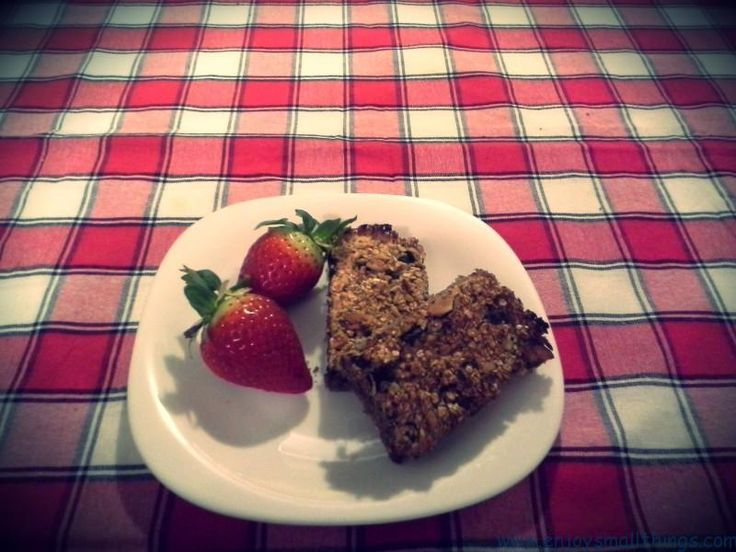Healthy snack: Oatmeal bars with dark chocolate delicious home made food