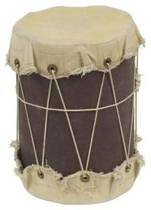 Native American drum  (Coffee can, fabric and string??)
