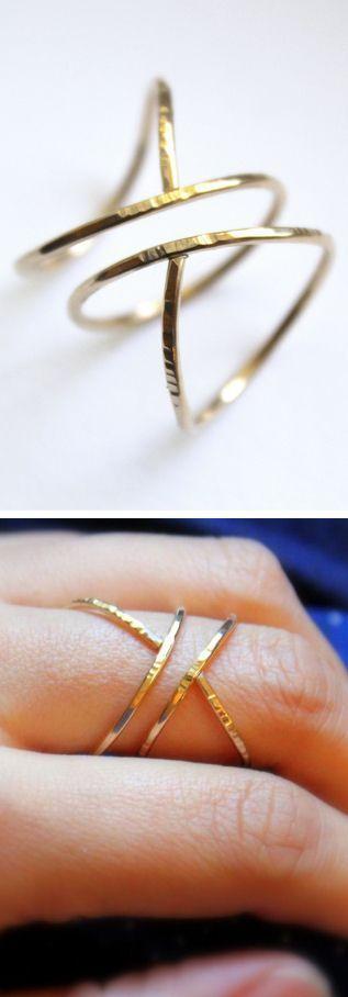 Hammered Siren Ring