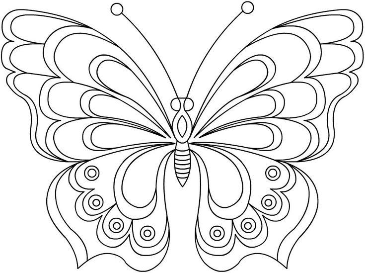 Ажурная бабочка - razukrashki.com