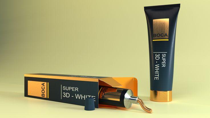 toothpaste mokcup, pasta de dente template, Thiago Bulhões, cycles render.belnder 3D, 3d model