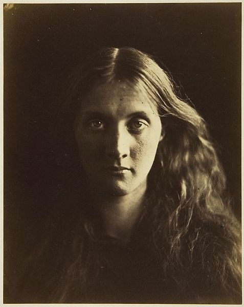 Portrait of Julia Prinsep Jackson, later Julia Stephen, by the Victorian photographer Julia Margaret Cameron. Stephen was Cameron's niece, favorite subject, and mother of the author Virginia Woolf.