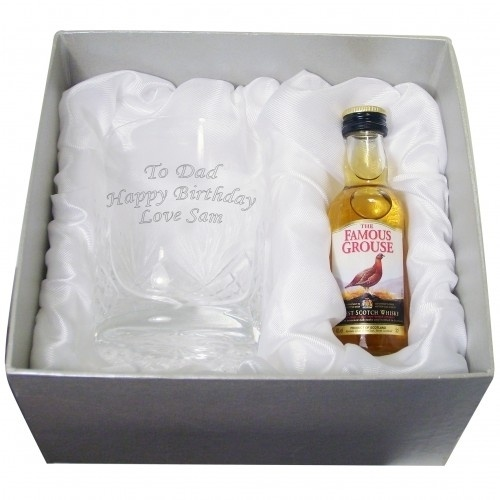 Personalised Crystal Glass and Whisky Gift Set £27.99 - The Wedding Gift Company