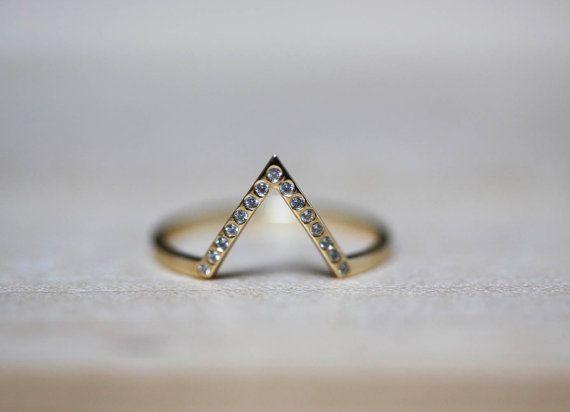 Thin Engagement Ring Thin Diamond Ring Thin Diamond by MinimalVS, $299.00