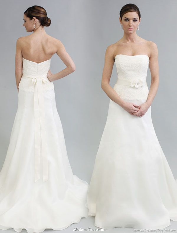 Lovely!    Modern trousseau 2011 bridal gown collection, Sophie strapless wedding dress