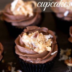 German Chocolate Cupcakes. These cupcakes are perfect... sweet German Chocolate Cake with Milk Chocolate Buttercream AND Coconut Pecan Frosting!