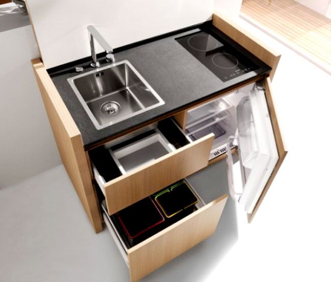 modern white small space saving kitchen appliances | A tiny kitchen can be one of the most difficult spaces to ...