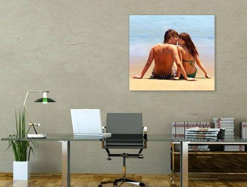 Dein Portrait im Digiatl Oil Stil. Auf Leinwand und Poster ganz individuell.