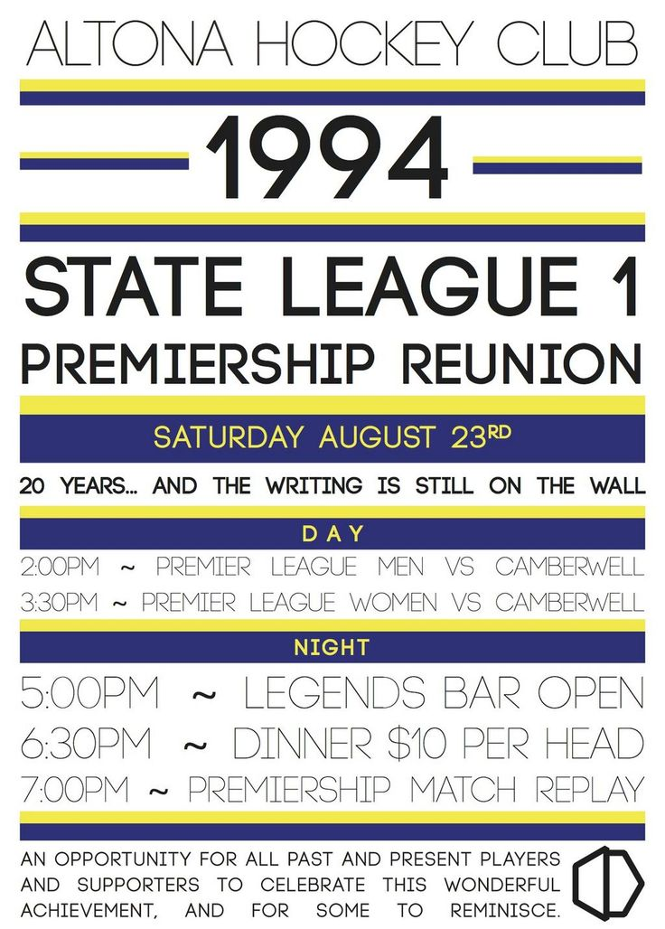 Join us on Aug 23 to celebrate the 20th anniversary of our first ever SL1 Premiership! #hvmpl #altonahc