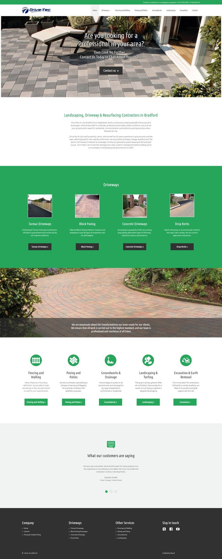 Brand new website for Drive-Tec UK.  For all your Driveways and Landscaping needs throughout the UK.