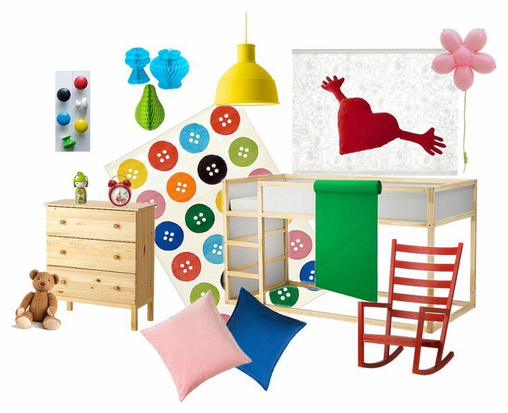 Mood board - Ikea kid´s bedroom