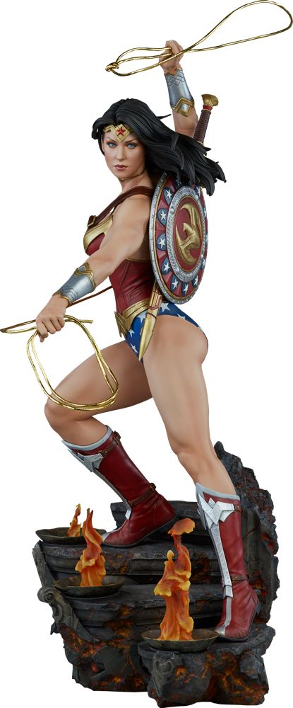 Wonder Woman Premium Format™ Figure amazing sculpture based on comics not film click to view or purchase