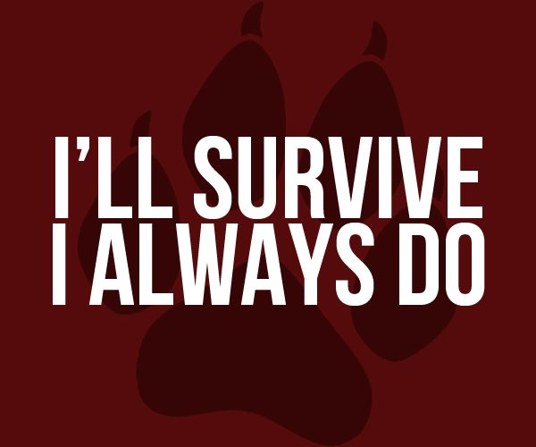 That's all I do . Just survive. Nothing more . At least i manage to do this